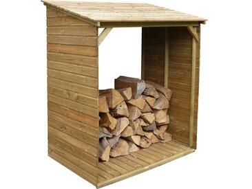 Abri bûches en bois avec plancher Tim 150 x 100 x 180 cm 150 x 100 x 180 cm