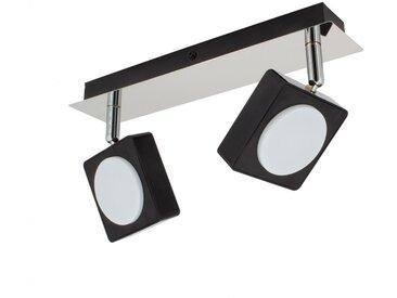 Lampe LED Plafond Orientable Capri 2 Spots 12W Noir Blanc Neutre 4000K - Blanc Neutre 4000K