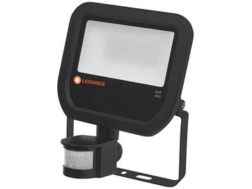 Projecteur LED Flood BK 50W, IP65, noir avec detecteur de mouvement - Ledvance