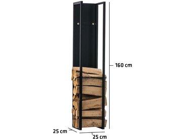 Porte-bûches Spark métal noir/mat 25x25x160 cm