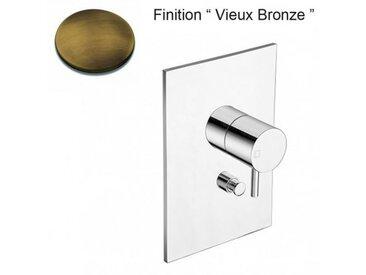 Facade Laiton Mitigeur Douche Triverde 2 Sorties Vieux Bronze - Cristina Ondyna Tv68992