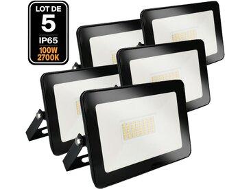 5 Projecteurs LED 100W Ipad Blanc chaud 2700K Haute Luminosité