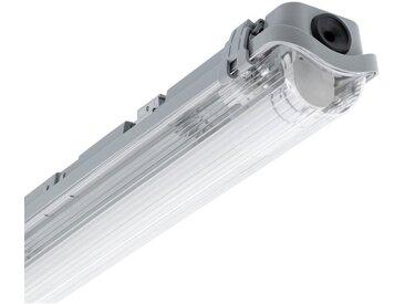 Kit Réglette Étanche Slim PC/PC avec un Tube LED T8 Connexion Latérale 1200mm 18W Blanc Neutre 3800K - 4200K