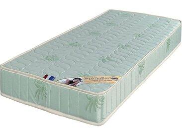 Lot de 2 Matelas + Alèses 70x190 x 19,5 cm - Soutien Ferme - Tissu a l'Aloe Vera - Mousse Poli Lattex Haute Résilience - hypoallergénique