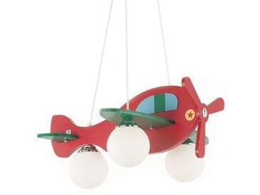 Suspension AVION-2 Rouge/vert 3x40W - IDEAL LUX -
