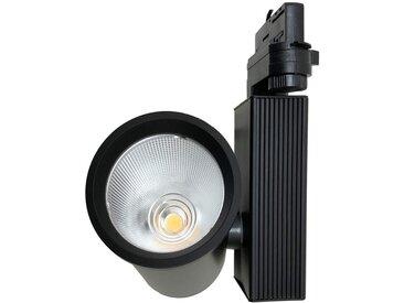 Spot LED sur Rail 35W 80° COB Triphasé NOIR - Blanc Neutre 4000K - 5500K