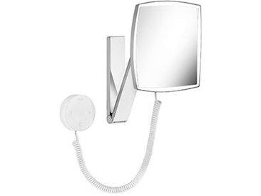 Keuco iLook_move Miroir grossissant, 17613, éclairé, réglable en 5 niveaux, couleur de lumière, surface miroir : 200x200 mm, chromé - 17613019000