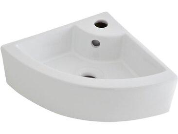Ensemble Vasque d'Angle Suspendue Belstone 46 X 32CM & Mitigeur Monotrou