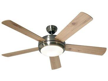 Ventilateur de plafond TITANIUM - Ø hélice 1320 mm - pin / hêtre / chrome brossé
