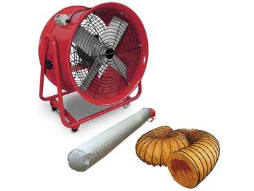 Ventilateur extracteur 500 mm - 1100W 380V avec tuyau et sac filtrant MW-Tools MV500R3SET