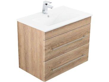 Meuble salle de bain Casa Infinity 750 décor chêne