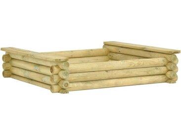 Hommoo Bac à sable 120x120x27 cm Pinède imprégnée