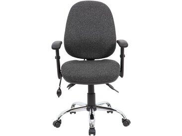 Chaise d'atelier pivotante Ergo Operator - ergonomique, gris foncé - Coloris: gris