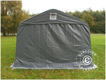 Tente Abri Voiture Garage PRO 3,6x8,4x2,68m PVC, Gris
