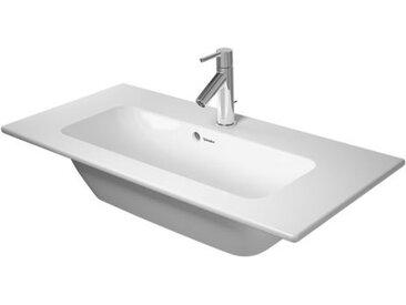 Duravit ME by Starck Meuble lave-mains Compact 83x40cm, sans trou de robinet Trop-plein, avec trou de robinet établi, Coloris: Blanc - 2342830060