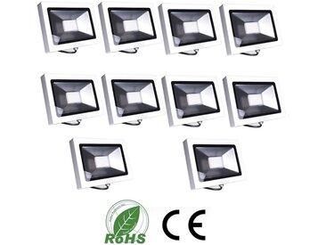 10×Auralum 30W Projecteur LED Ultraléger IP65 Éclairage Extérieur et Intérieur 2250LM de Haute Luminosité Spot LED Blanc Neutre 4000-4500K