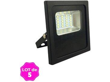 Lot 5 Projecteurs Led 20W Black Series Blanc Chaud Haute Luminosité Couleur - Noir