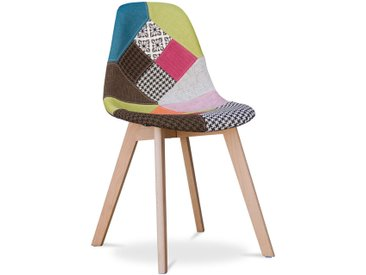 Chaise design Deswick - Patchwork Simona Multicolore