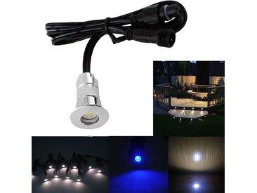 Pack Mini Spots LED Ronds Étanches SP-E02 - Tout Compris | Sans Télécommande - Blanc Froid 6000K - 41 spots LED