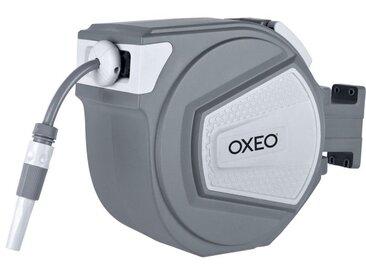 Oxeo - Dévidoir mural automatique 25 m - Tuyau d'arrosage + enrouleur + raccords + robinet 560 mm
