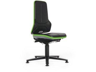 Siège d'atelier NEON, assise rembourrée mousse intégrale, noir/vert