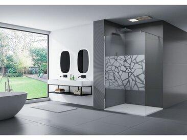 Douche à l'italienne Nano en verre véritable EX101 bande effet miroir - largeur sélectionnable: 1200mm