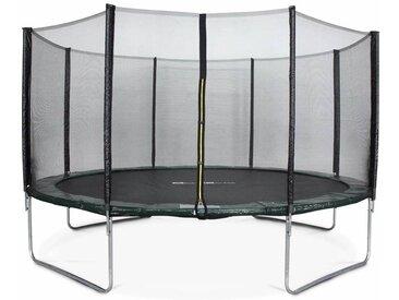 Trampoline Ø430cm - Vénus vert avec son filet de protection - Trampoline de jardin 430cm 4m