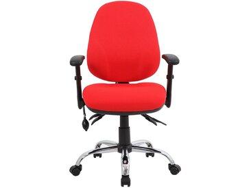 Chaise d'atelier pivotante Ergo Operator - ergonomique, rouge - Coloris: rouge