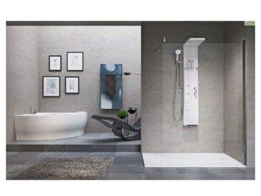 Colonne de douche mécanique ou thermostatique NOVELLINI DRESS S 158 cm - Avec repose pieds - Avec repose pieds