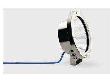 Projecteur halogene 50W inox immergeable Ø 140mm sur patere avec lampe 12V PAR36 transfo 230V intégré IP68 BEGA 99508