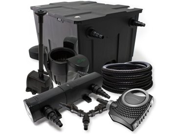 SunSun Kit filtration bassin 60000l 18W Stérilisateur NEO8000 70W Pompe 25m Tuyau Skimmer Fontaine