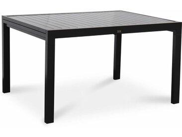 Table de jardin extensible – Boston – Table en aluminium 135/270cm avec rallonges, anthracite