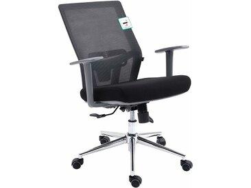 Cherry Tree Furniture Fauteuil de bureau ergonomique pivotant avec support lombaire ajustable et dossier inclinable Synchro-Tilt en maille gris