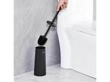 Auralum Brosse de Toilette Noir en 201 Acier Inoxydable Avec Brosse Antibactérienne Balayette WC pour Toilettes