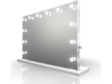Diamond X Miroir De Maquillage High Gloss Blanc K313MWWLED - Couleur LED : Ampoules LED blanches chaudes
