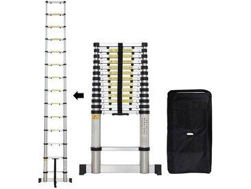 Échelle Pliable, Echelle Telescopique, 4,1 mètre(s), Sac de transport OFFERT, Barre stabilisatrice, EN 131-6, Écart supplémentaire, Charge maximale: 150 kg