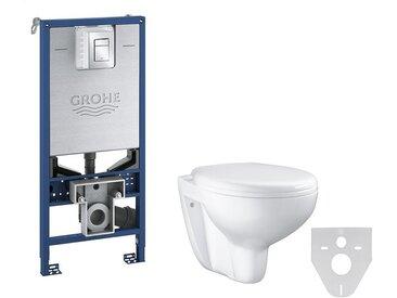 Grohe pack WC Rapid SLX autoportant avec cuvette rimless Bau Ceramic   Abattant frein de chute