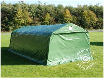 Tente Abri Voiture Garage PRO 3,6x8,4x2,68m PVC, Vert