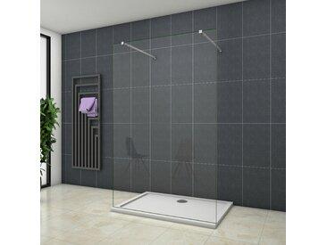 OCEAN Paroi de douche 110x200cm paroi de douche à l'italienne contre un mur