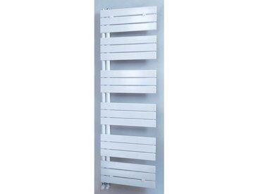 Radiateur sèche-serviettes VARIO chauffage central - Puissance : 537 W - H=1110 mm - L=550 mm - BLANC