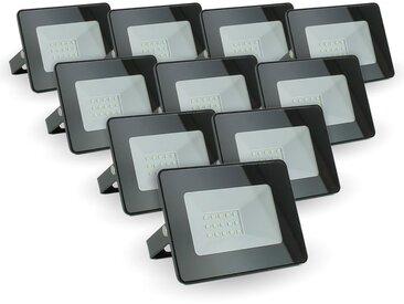 Lot de 10 projecteurs 10W IP65 extérieur   Température de Couleur: Blanc neutre 4000K