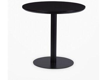 SKLUM - Table Onic Ø80 Noir Bois - Acier - Noir