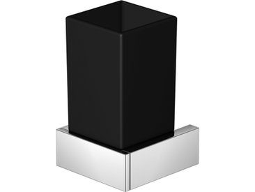 Série 460 porte-verre chromé avec verre noir satiné - 4602002 - Steinberg