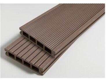 PACK 1 m² lame de terrasse composite Dual ACCESSOIRES (4 coloris) 3600mm - Coloris - Brun rouge, Epaisseur - 25mm, Largeur - 14 cm, Longueur - 360 cm, Surface couverte en m² - 1