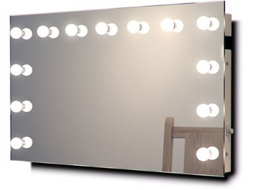 Diamond X Miroir de maquillage mural Hollywood Avec ampoules LED k91WWbath - Couleur LED : Ampoules LED blanches chaudes