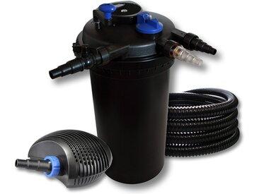 SunSun Kit filtration de bassin à pression 30000l avec 18W UVC Stérilisateur 40W éco Pompe 25m Tuyau