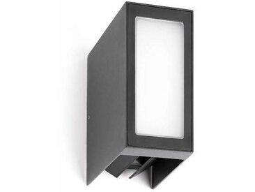 Applique extérieure bidirectionelle Faro Log Gris anthracite Aluminium 70264