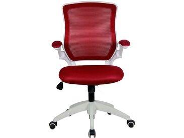 Chaise pivotante de bureau Fusion - avec dossier respirant, rouge
