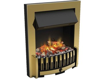 Foyer de cheminée électrique encastrable optimyst effet fumée Danville Bronze - Bronze