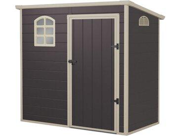 Maisonette en résine Gardiun Flat Roof 2,12 m² 191x111x195 cm gris anthracite